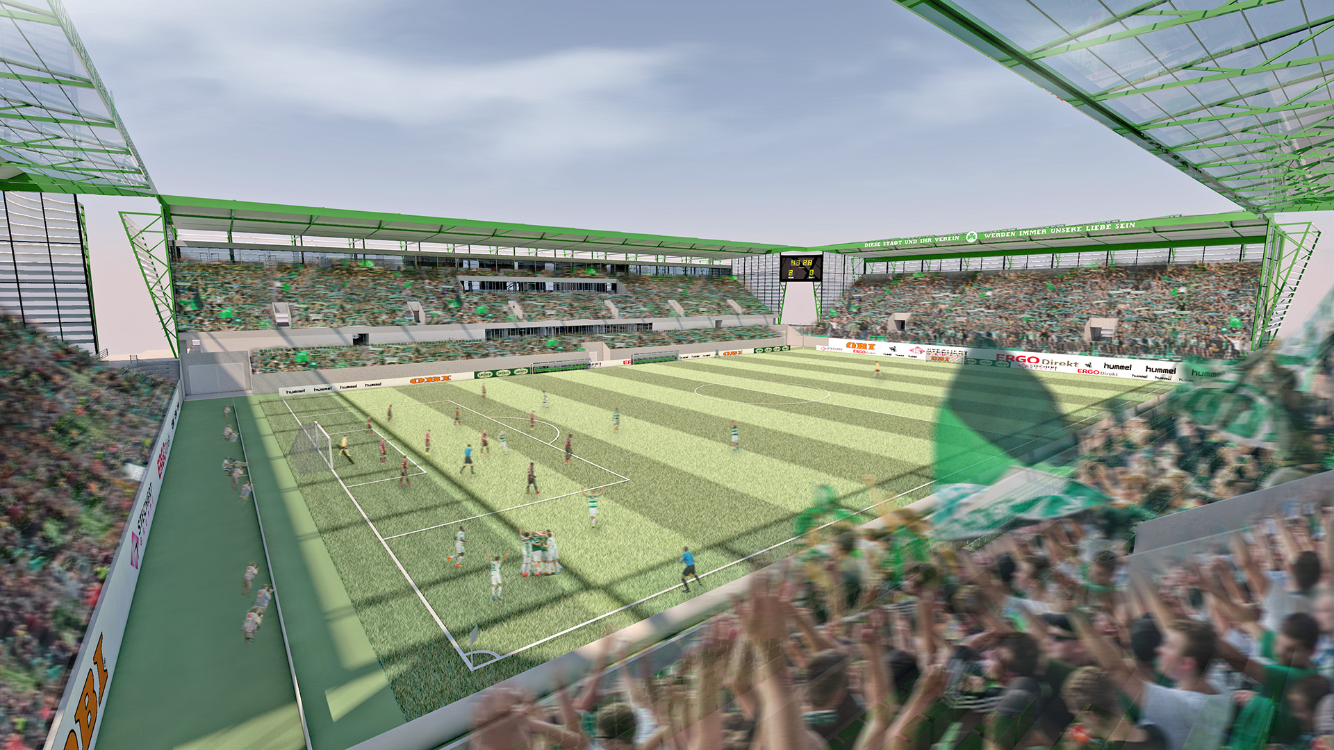 stadium f rth vision4venue we create homes for sport. Black Bedroom Furniture Sets. Home Design Ideas